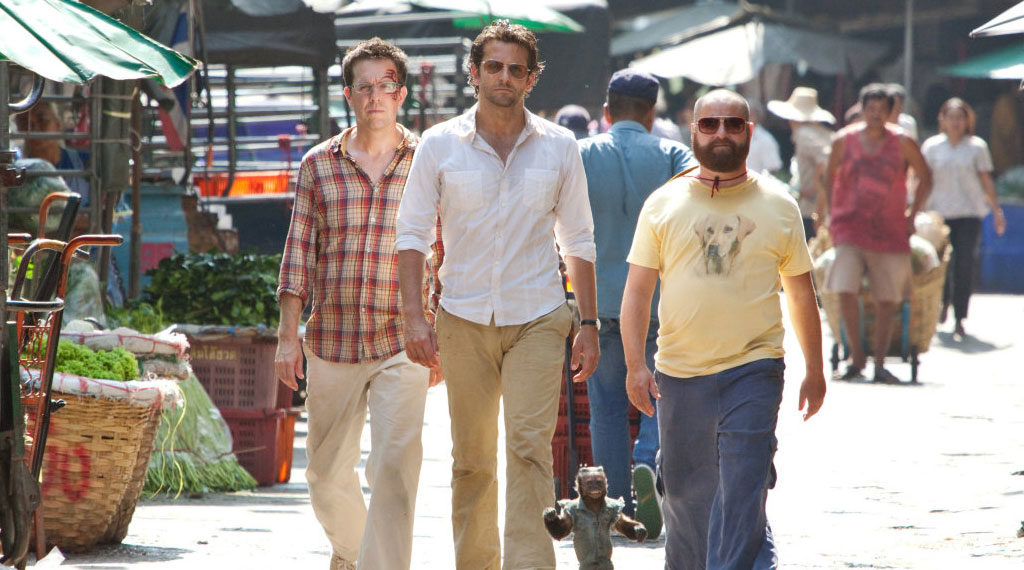 Ed Helms, Bradley Cooper and Zach Galafianakis in 'The Hangover Part II' (SOURCE: Warner Bros.)
